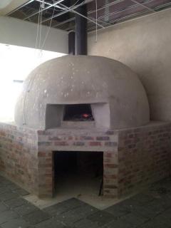 custom built pizza oven