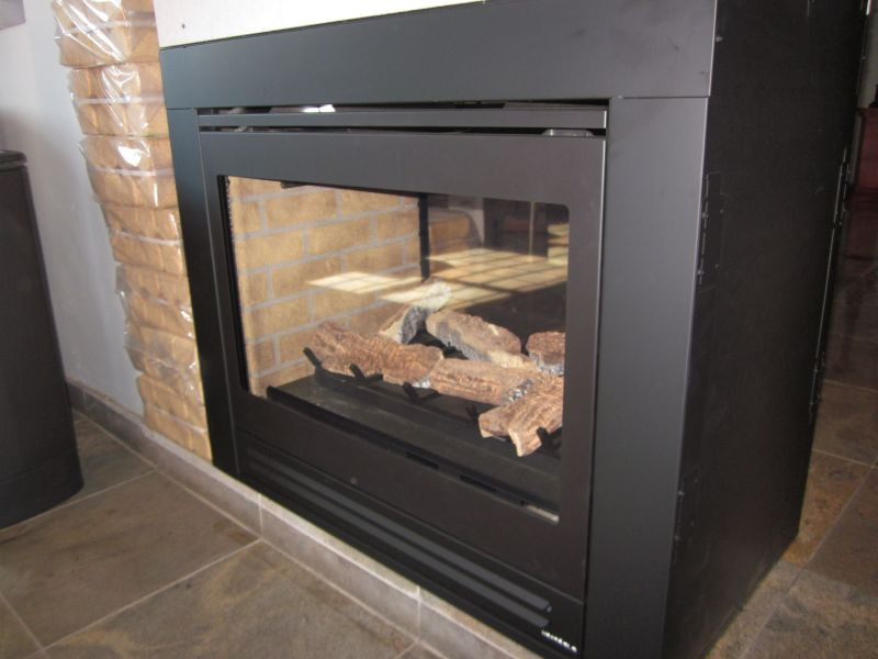 heat glo double sided gas fireplace