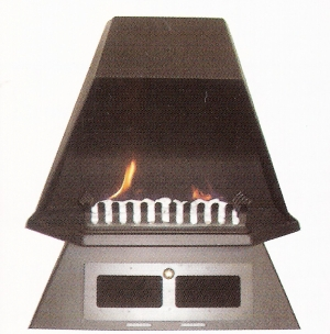 Ventless Gas Fireplaces, Freestanding, Natural, Modern, Propane