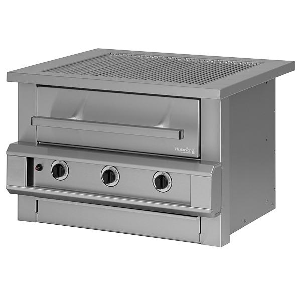 3 burner hybrid grill