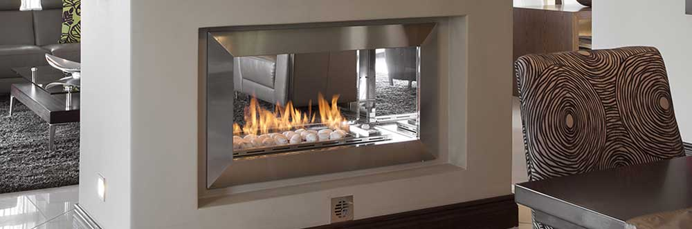Stylus fera double sided fireplace for Double sided fireplace price